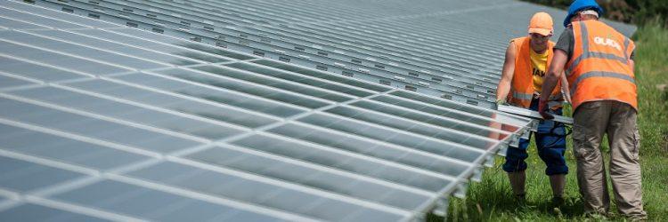 LW solar farm installation